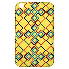 Shapes On A Yellow Background Samsung Galaxy Tab 3 (8 ) T3100 Hardshell Case  by LalyLauraFLM