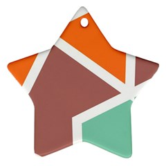 Misc Shapes In Retro Colors Ornament (star) by LalyLauraFLM