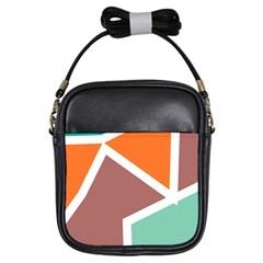 Misc Shapes In Retro Colors Girls Sling Bag by LalyLauraFLM