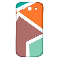 Misc Shapes In Retro Colors Samsung Galaxy S3 S Iii Classic Hardshell Back Case by LalyLauraFLM