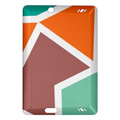 Misc Shapes In Retro Colors Kindle Fire Hd (2013) Hardshell Case by LalyLauraFLM