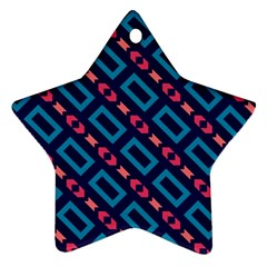 Rectangles And Other Shapes Pattern Ornament (star) by LalyLauraFLM