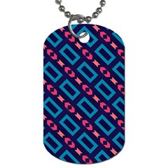 Rectangles And Other Shapes Pattern Dog Tag (two Sides) by LalyLauraFLM