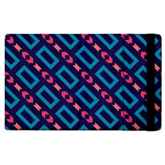 Rectangles And Other Shapes Pattern Apple Ipad 2 Flip Case by LalyLauraFLM