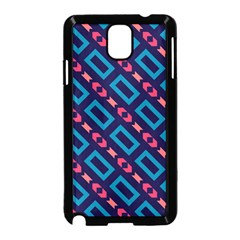 Rectangles And Other Shapes Pattern Samsung Galaxy Note 3 Neo Hardshell Case by LalyLauraFLM