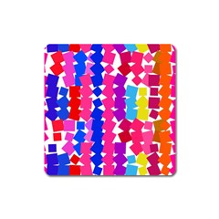Colorful Squares Magnet (square) by LalyLauraFLM
