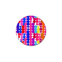 Colorful Squares Golf Ball Marker by LalyLauraFLM