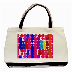 Colorful Squares Basic Tote Bag by LalyLauraFLM