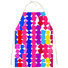 Colorful Squares Full Print Apron by LalyLauraFLM