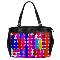 Colorful Squares Oversize Office Handbag by LalyLauraFLM