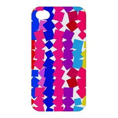 Colorful Squares Apple Iphone 4/4s Hardshell Case by LalyLauraFLM