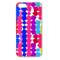 Colorful Squares Apple Seamless Iphone 5 Case (clear) by LalyLauraFLM