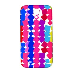 Colorful Squares Samsung Galaxy S4 I9500/i9505  Hardshell Back Case by LalyLauraFLM