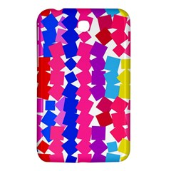 Colorful Squares Samsung Galaxy Tab 3 (7 ) P3200 Hardshell Case  by LalyLauraFLM