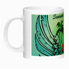 Summer Design With Cute Parrot And Palms Night Luminous Mugs