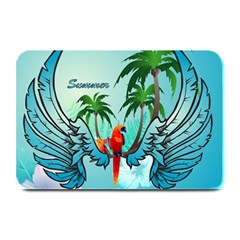 Summer Design With Cute Parrot And Palms Plate Mats by FantasyWorld7