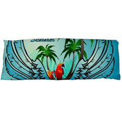 Summer Design With Cute Parrot And Palms Body Pillow Cases Dakimakura (two Sides)