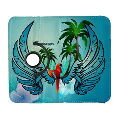 Summer Design With Cute Parrot And Palms Samsung Galaxy S  Iii Flip 360 Case