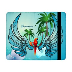 Summer Design With Cute Parrot And Palms Samsung Galaxy Tab Pro 8 4  Flip Case