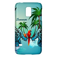 Summer Design With Cute Parrot And Palms Galaxy S5 Mini