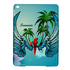 Summer Design With Cute Parrot And Palms Ipad Air 2 Hardshell Cases