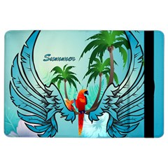 Summer Design With Cute Parrot And Palms Ipad Air 2 Flip by FantasyWorld7