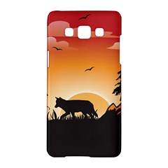The Lonely Wolf In The Sunset Samsung Galaxy A5 Hardshell Case