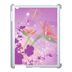 Wonderful Flowers On Soft Purple Background Apple Ipad 3/4 Case (white) by FantasyWorld7