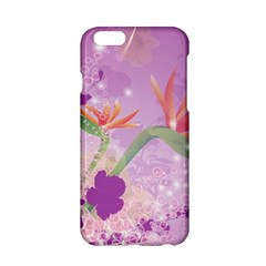 Wonderful Flowers On Soft Purple Background Apple Iphone 6/6s Hardshell Case by FantasyWorld7