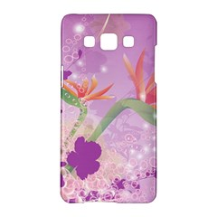 Wonderful Flowers On Soft Purple Background Samsung Galaxy A5 Hardshell Case  by FantasyWorld7