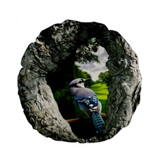 Bird In The Tree 2 Standard 15  Premium Flano Round Cushions by infloence