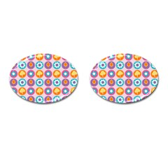 Chic Floral Pattern Cufflinks (oval) by creativemom