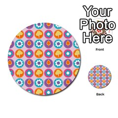 Chic Floral Pattern Multi Purpose Cards (round)