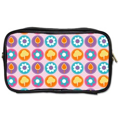 Chic Floral Pattern Toiletries Bags 2 Side by creativemom
