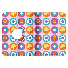 Chic Floral Pattern Kindle Fire HDX Flip 360 Case by creativemom
