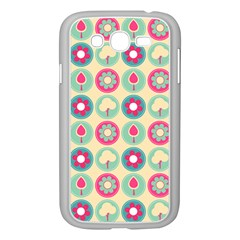 Chic Floral Pattern Samsung Galaxy Grand DUOS I9082 Case (White) by creativemom