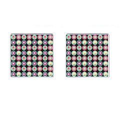 Chic Floral Pattern Cufflinks (square) by creativemom
