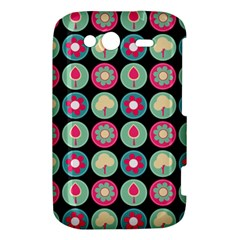 Chic Floral Pattern HTC Wildfire S A510e Hardshell Case by creativemom