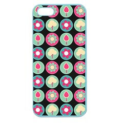 Chic Floral Pattern Apple Seamless Iphone 5 Case (color) by creativemom
