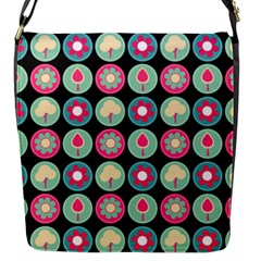 Chic Floral Pattern Flap Messenger Bag (s) by creativemom