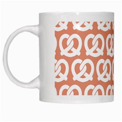 Salmon Pretzel Illustrations Pattern White Mugs by creativemom