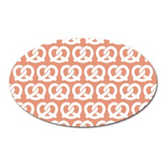 Salmon Pretzel Illustrations Pattern Oval Magnet by creativemom