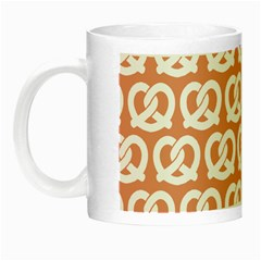 Salmon Pretzel Illustrations Pattern Night Luminous Mugs by creativemom