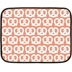 Salmon Pretzel Illustrations Pattern Double Sided Fleece Blanket (mini)  by creativemom