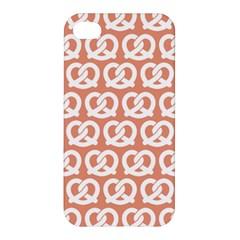 Salmon Pretzel Illustrations Pattern Apple Iphone 4/4s Premium Hardshell Case by creativemom