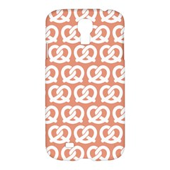 Salmon Pretzel Illustrations Pattern Samsung Galaxy S4 I9500/i9505 Hardshell Case by creativemom