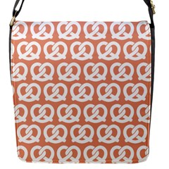 Salmon Pretzel Illustrations Pattern Flap Messenger Bag (s) by creativemom