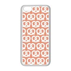 Salmon Pretzel Illustrations Pattern Apple Iphone 5c Seamless Case (white) by creativemom