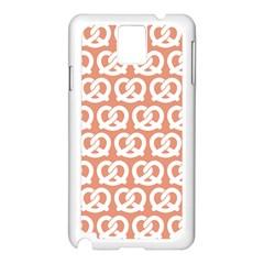 Salmon Pretzel Illustrations Pattern Samsung Galaxy Note 3 N9005 Case (white) by creativemom