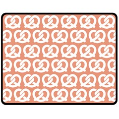 Salmon Pretzel Illustrations Pattern Double Sided Fleece Blanket (medium)  by creativemom